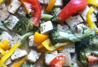 Tofu Fricasse with Spelt Gravy