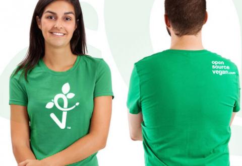 OpenSourceVegan.com tee shirt