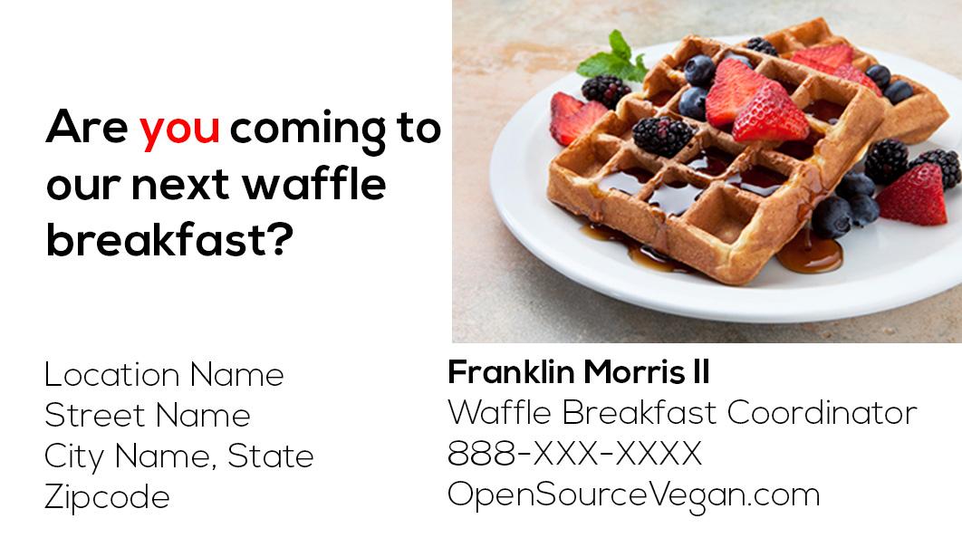 Waffles Invite is luxury invitation sample